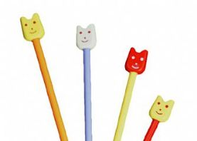 Children's 4mm Knitting Needles with Faces